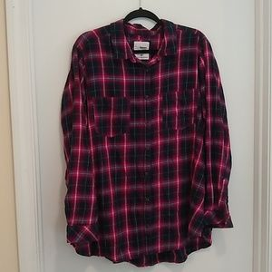 Sonoma everyday shirt pink & blue plaid
